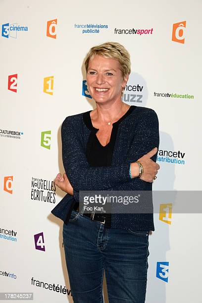 TV presenter Elise Lucet attends the 'Rentree France Televisions' photocall at Palais de Tokyo on August 27 2013 in Paris France