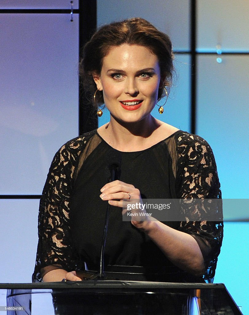 Presenter <a gi-track='captionPersonalityLinkClicked' href=/galleries/search?phrase=Emily+Deschanel&family=editorial&specificpeople=240264 ng-click='$event.stopPropagation()'>Emily Deschanel</a> speaks onstage during The Broadcast Television Journalists Association Second Annual Critics' Choice Awards at The Beverly Hilton Hotel on June 18, 2012 in Beverly Hills, California.