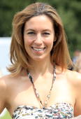 Presenter Emma Crosby arrives at the Carteir tent at Guards Polo Club for the Cartier International Polo Day on July 25 2010 in Egham England