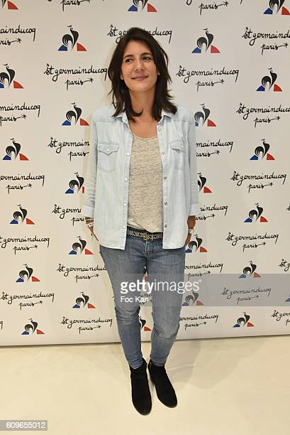 TV presenter Estelle Denis attends the Coq Sportif Boutique Opening Party on September 21 2016 in Paris France
