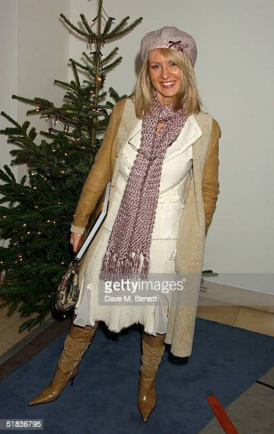 TV presenter Ester McVey attends the book launch party launching the Scottish artist Jack Vettriano's new book 'Jack Vettriano A Life' at Bluebird on...