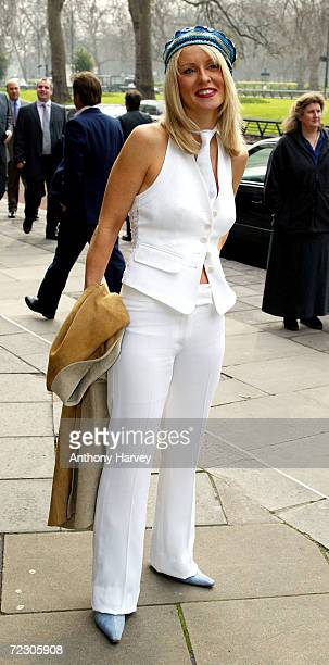 Presenter Esther McVey arrives at the Television Radio Industries Club Awards March 12 2002 at the Grosvenor House Hotel in London