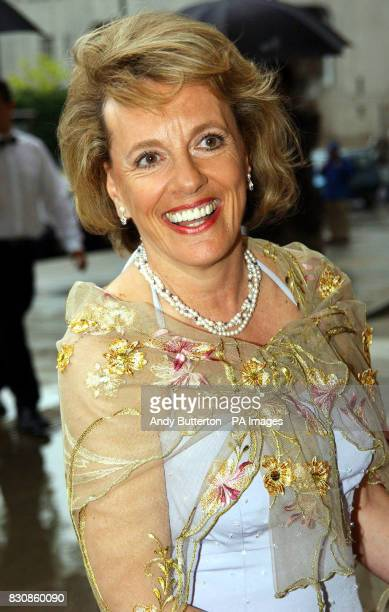 TV presenter Esther Rantzen arriving at the Victoria Albert Museum in London for a reception celebrating of one of Britain's leading couturiers...