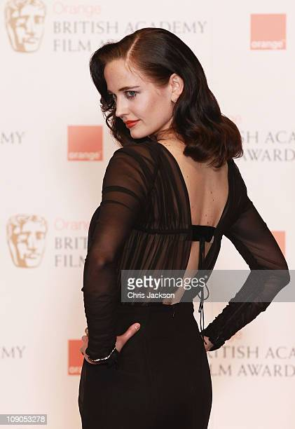 Presenter Eva Green poses in the press room during the 2011 Orange British Academy Film Awards at The Royal Opera House on February 13 2011 in London...