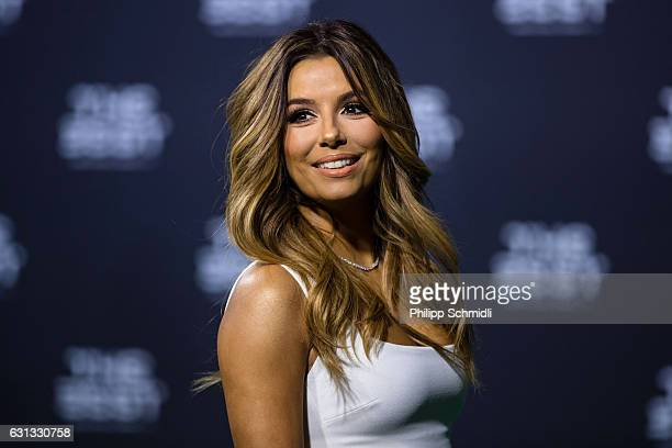 Presenter Eva Longoria arrives for The Best FIFA Football Awards 2016 on January 9 2017 in Zurich Switzerland
