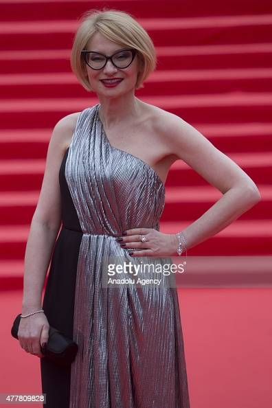 TV presenter Evelina Khromchenko attends the opening ceremony of the 37th Moscow International Film Festival in Moscow Russia on June 2015