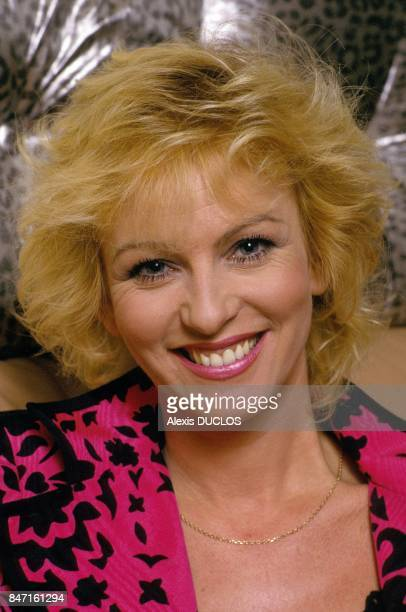 TV presenter Evelyne Leclercq on March 23 1990 in France