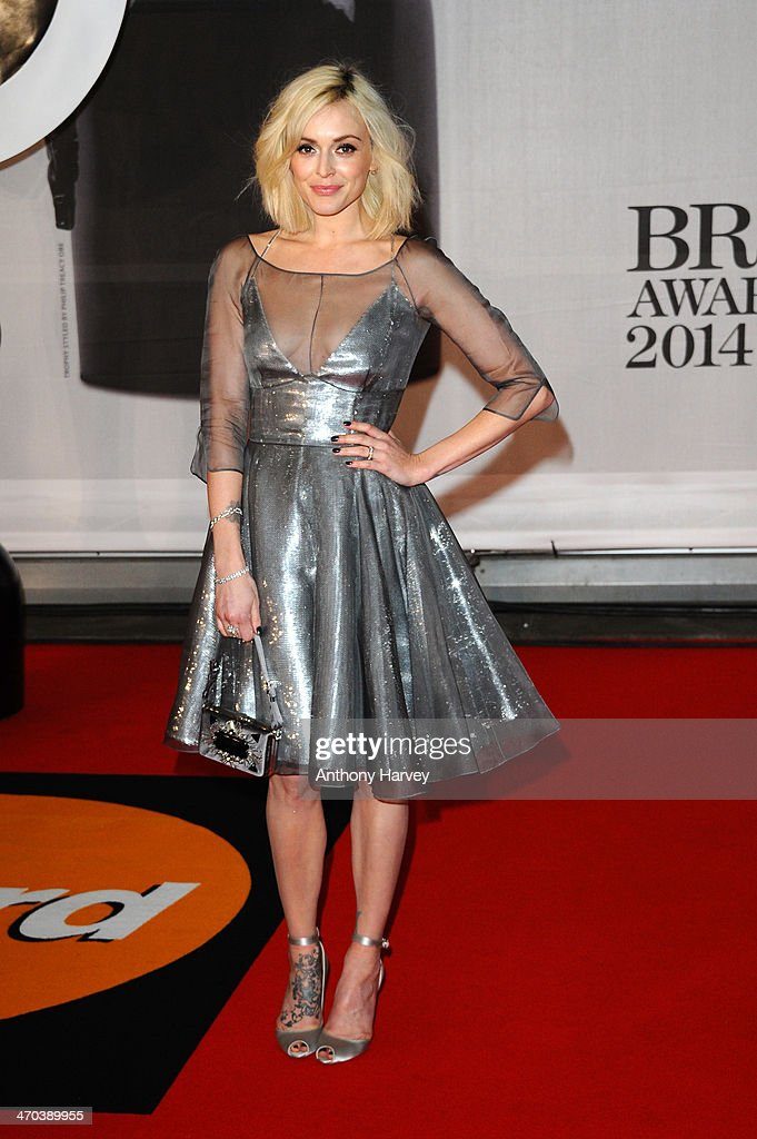 Presenter Fearne Cotton attends The BRIT Awards 2014 at 02 Arena on February 19, 2014 in London, England.