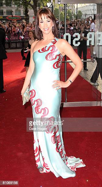 TV presenter Fiona Bruce arrives at the world premiere of 'Sex And The City' at the Odeon Leicester Square on May 12 2008 in London England