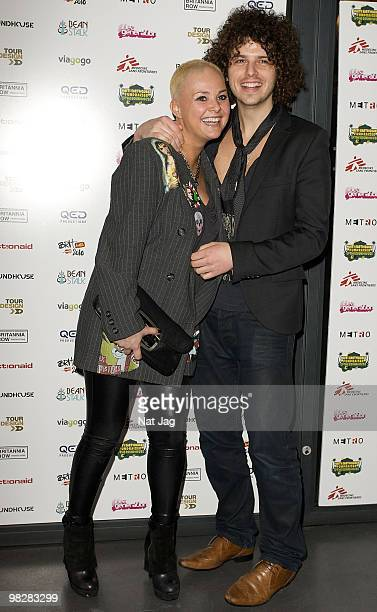 TV presenter Gail Porter and musician Jonny Davies attend The Haiti Earthquake Fundraiser at The Roundhouse on February 25 2010 in London England