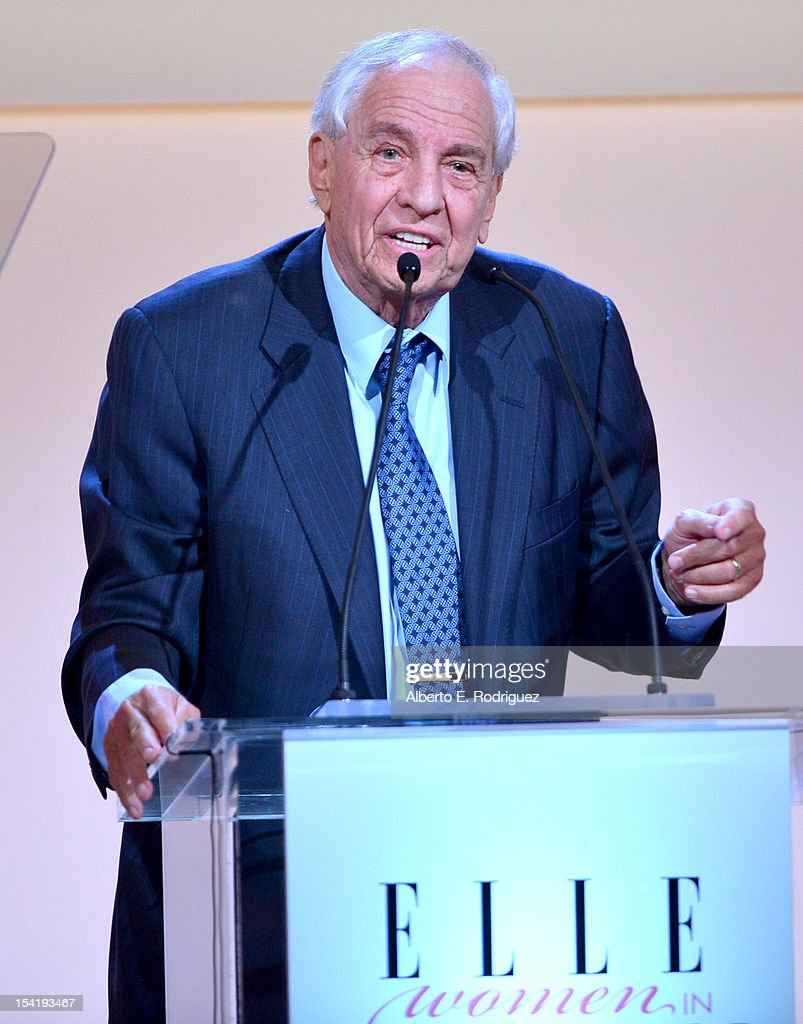 Presenter Garry Marshall speaks onstage at ELLE's 19th Annual Women In Hollywood Celebration at the Four Seasons Hotel on October 15, 2012 in Beverly Hills, California.