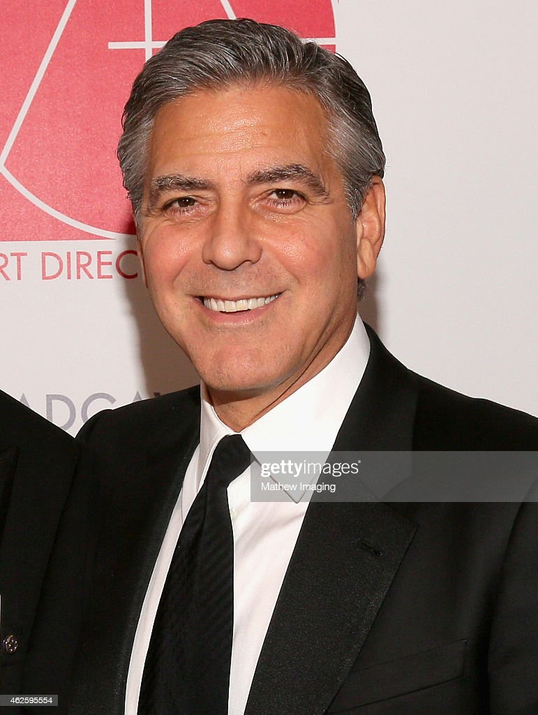 Presenter <a gi-track='captionPersonalityLinkClicked' href=/galleries/search?phrase=George+Clooney&family=editorial&specificpeople=202529 ng-click='$event.stopPropagation()'>George Clooney</a> attends the 19th Annual Art Directors Guild Excellence In Production Design Awards at The Beverly Hilton Hotel on January 31, 2015 in Beverly Hills, California.