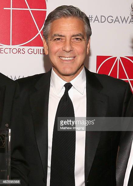 Presenter George Clooney attends the 19th Annual Art Directors Guild Excellence In Production Design Awards at The Beverly Hilton Hotel on January 31...