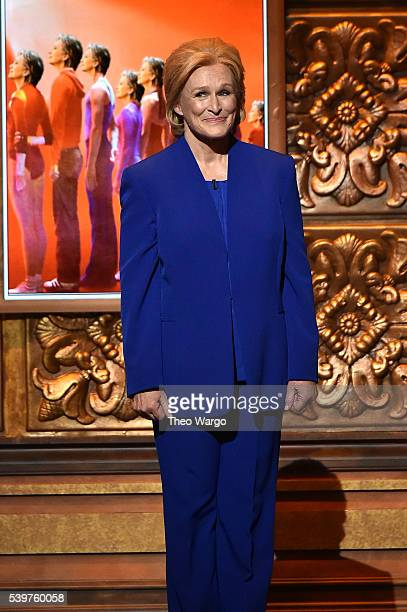 Presenter Glenn Close speaks onstage during the 70th Annual Tony Awards at The Beacon Theatre on June 12 2016 in New York City