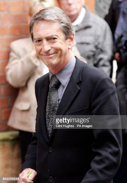 Presenter Gordon Burns arrives for the funeral of music mogul Tony Wilson at St Mary's RC Church in central Manchester