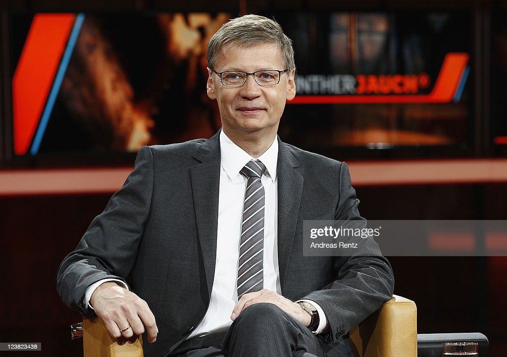 TV presenter Guenther Jauch attends a photocall to promote his new ARD show GUENTHER JAUCH at Gasometer on September 5, 2011 in Berlin, Germany.