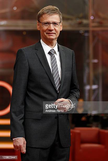 TV presenter Guenther Jauch attends a photocall to promote his new ARD show GUENTHER JAUCH at Gasometer on September 5 2011 in Berlin Germany