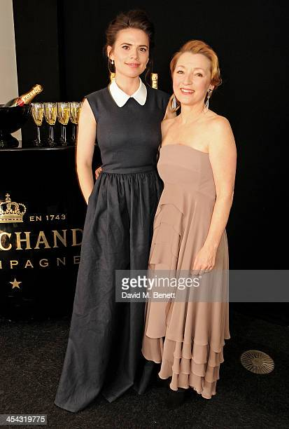 Presenter Hayley Atwell and Lesley Manville attend the Moet British Independent Film Awards 2013 at Old Billingsgate Market on December 8 2013 in...