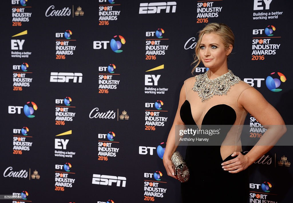 Presenter <a gi-track='captionPersonalityLinkClicked' href=/galleries/search?phrase=Hayley+McQueen&family=editorial&specificpeople=9513992 ng-click='$event.stopPropagation()'>Hayley McQueen</a> poses on the red carpet at the BT Sport Industry Awards 2016 at Battersea Evolution on April 28, 2016 in London, England. The BT Sport Industry Awards is the most prestigious commercial sports awards ceremony in Europe, where over 1750 of the industry's key decision-makers mix with high profile sporting celebrities for the most important networking occasion in the sport business calendar.