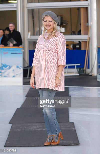 TV presenter Holly Willoughby attends the 'Dancing on Ice' Press launch at the National History Museum on January 7 2008 in London England