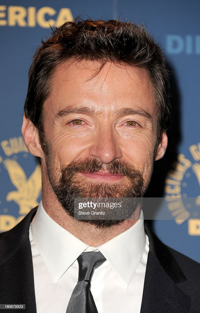Presenter Hugh Jackman poses in the press room at the 65th Annual Directors Guild Of America Awards at The Ray Dolby Ballroom at Hollywood & Highland Center on February 2, 2013 in Hollywood, California.