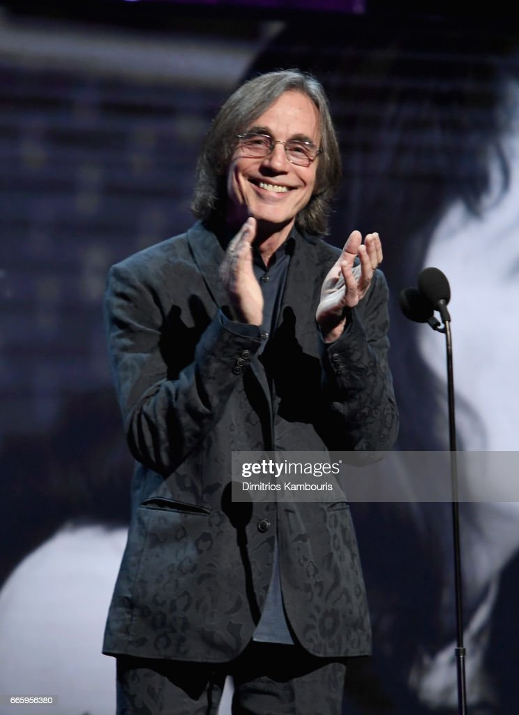 Presenter Jackson Browne speaks onstage at the 32nd Annual Rock & Roll Hall Of Fame Induction Ceremony at Barclays Center on April 7, 2017 in New York City. Debuting on HBO Saturday, April 29, 2017 at 8:00 pm ET/PT