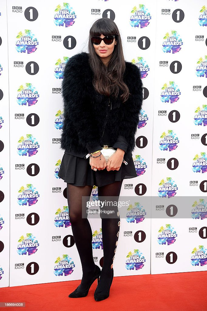 Presenter <a gi-track='captionPersonalityLinkClicked' href=/galleries/search?phrase=Jameela+Jamil&family=editorial&specificpeople=5441115 ng-click='$event.stopPropagation()'>Jameela Jamil</a> attends the BBC Radio 1 Teen Awards at Wembley Arena on November 3, 2013 in London, England.