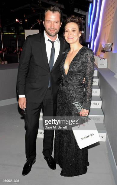 Presenter James Purefoy and Theatre Actress award winner Helen McCrory pose at the Glamour Women of the Year Awards in association with Pandora at...