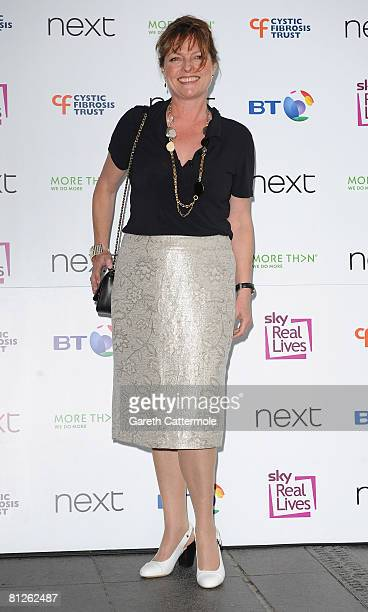 TV presenter Janet Ellis arrives at the Cystic Fibrosis Trust Breathing Life Awards on May 28 2008 in London England