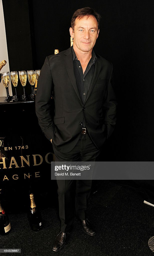 Presenter <a gi-track='captionPersonalityLinkClicked' href=/galleries/search?phrase=Jason+Isaacs&family=editorial&specificpeople=212740 ng-click='$event.stopPropagation()'>Jason Isaacs</a> poses backstage at the Moet British Independent Film Awards 2013 at Old Billingsgate Market on December 8, 2013 in London, England.