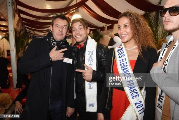 TV presenter Jean Luc Reichmann a Mister France and a Miss elegance attend Foire du Trone Auction Launch Party to benefit 'Les Petits Princes'...