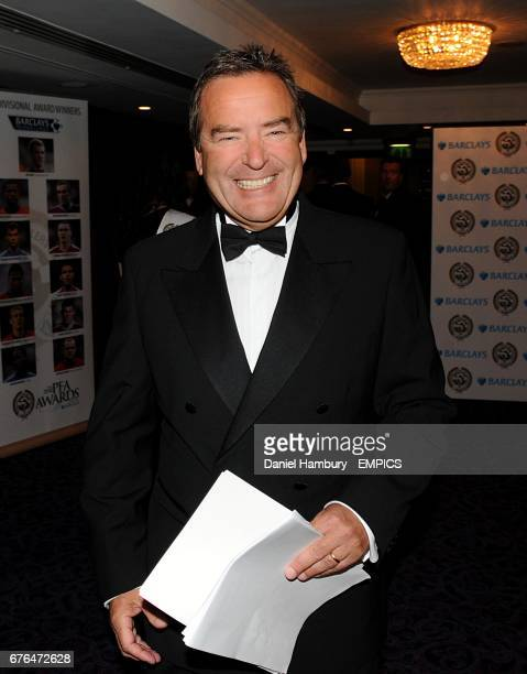 TV presenter Jeff Stelling arrives at the PFA Player of the Year Awards 2010 at the Grosvenor House Hotel London