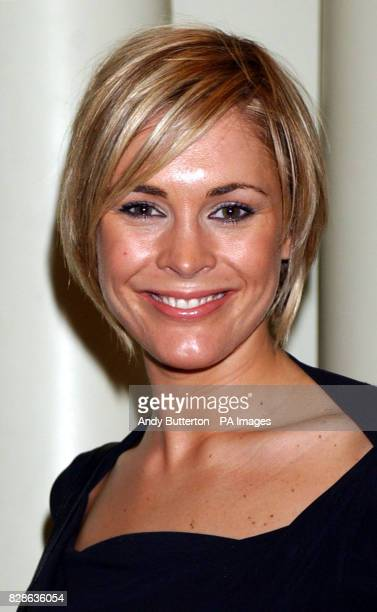Presenter Jenni Falconer arriving at the 2003 Television and Radio Industries Club Awards at the Grovesnor House Hotel central London 5/11/03 GMTV...