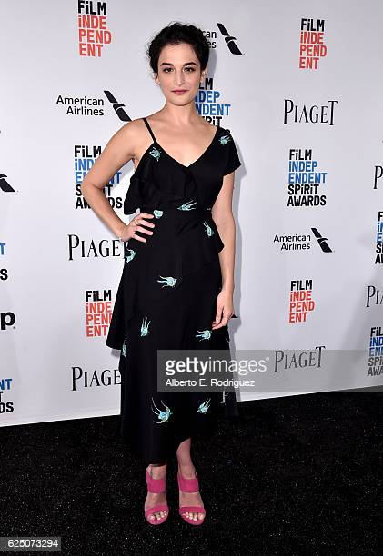 Presenter Jenny Slate attends the 32nd Film Independent Spirit Awards Nominations Press Conference at W Hollywood on November 22 2016 in Hollywood...