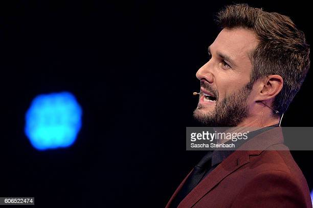Presenter Jochen Schropp attends the finals of 'Promi Big Brother 2016' at MMC Studios on September 16 2016 in Cologne Germany