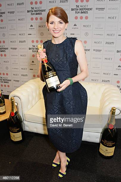 Presenter Jodie Whittaker poses at The Moet British Independent Film Awards 2014 at Old Billingsgate Market on December 7 2014 in London England