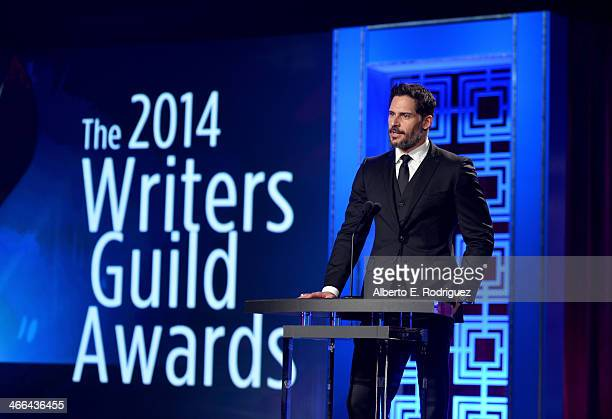 Presenter Joe Manganiello attends the 2014 Writers Guild Awards LA Ceremony at JW Marriott at LA Live on February 1 2014 in Los Angeles California