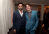 Presenter John Stamos and honoree RJ Mitte attend the 2014 Starlight Awards at Vibiana on October 23 2014 in Los Angeles California