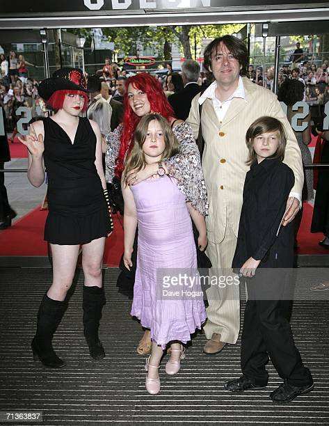 TV presenter Jonathan Ross his wife Jane Goldman and their children arrive at the European premiere of 'Pirates of the Caribbean Dead Man's Chest' at...