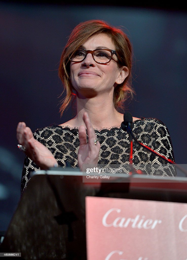 Presenter Julia Roberts speaks onstage during the 25th annual Palm Springs International Film Festival awards gala at Palm Springs Convention Center on January 4, 2014 in Palm Springs, California.