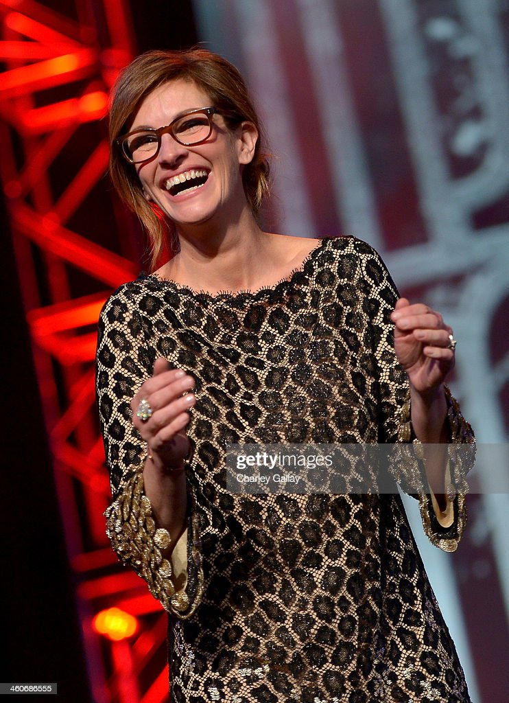 Presenter <a gi-track='captionPersonalityLinkClicked' href=/galleries/search?phrase=Julia+Roberts&family=editorial&specificpeople=202605 ng-click='$event.stopPropagation()'>Julia Roberts</a> speaks onstage during the 25th annual Palm Springs International Film Festival awards gala at Palm Springs Convention Center on January 4, 2014 in Palm Springs, California.