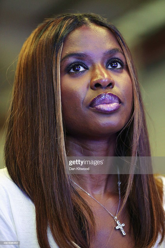 TV presenter <a gi-track='captionPersonalityLinkClicked' href=/galleries/search?phrase=June+Sarpong&family=editorial&specificpeople=211482 ng-click='$event.stopPropagation()'>June Sarpong</a> listens as the chairman of the 'Britain Stronger in Europe' campaign Lord Stuart Rose speaks during a press conference at The Truman Brewery on October 12, 2015 in London, England. Stuart Rose was launching the 'Britain Stronger In Europe Campaign', setting out his vision to persuade voters to keep Britain in the EU ahead of the proposed referendum.