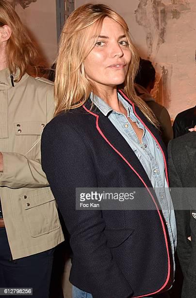 TV presenter Justine Fraioli attends the Les Etoiles MercedesBenz Cocktail Paris Fashion Week Womenswear Spring/Summer 2017 at garage Lubeck on...