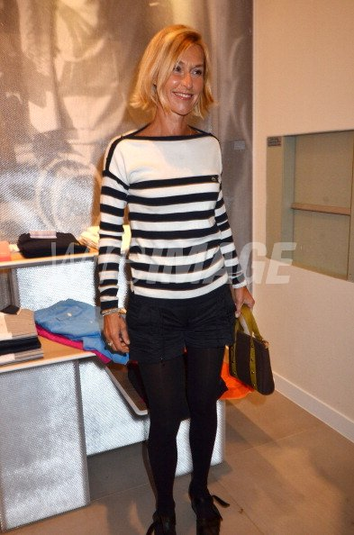 ab31495fe812d9 TV presenter Karine Fauvet attends the Lacoste Flagship Store Opening Party  at Lacoste Champs Elysees on April 28