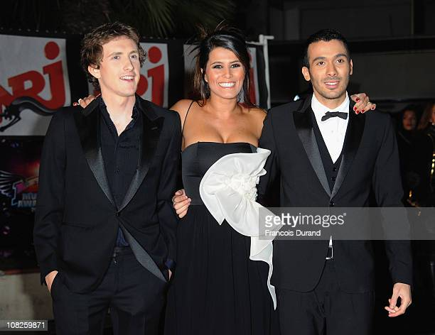 TV presenter Karine Ferri and Mustapha El Atrassi attend the NRJ Music Awards 2011 on January 22 2011 at the Palais des Festivals et des Congres in...