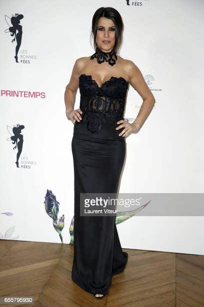 Presenter Karine Ferri attends 'Les Bonnes Fees' Charity Gala at Hotel D'Evreux on March 20 2017 in Paris France