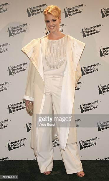 Presenter Katherine Heigl poses in the press room at the 2005 American Music Awards held at the Shrine Auditorium on November 22 2005 in Los Angeles...