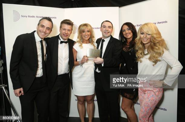 Presenter Katie Piper with the team from Real Radio North West who won the Best Community Programming Award for 'Ciaran's Cause' at the Sony Radio...