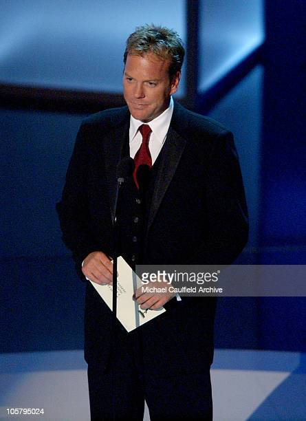 Presenter Kiefer Sutherland for Best Supporting Actress in a Drama Series