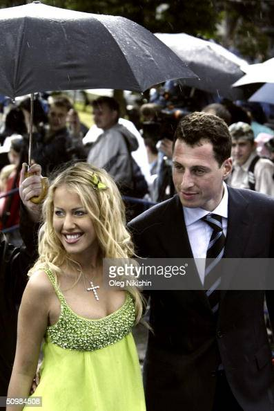 TV presenter Ksenia Sobchak arrives at the opening ceremony of the XXVI Moscow international film festival at Russia cinema hall on June 18 2004 in...